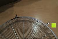 Gehäuse: Andrew James 40cm Standventilator mit Chromfinish – 60 Watt Motor, Verstellbare Höhe, 3 Geschwindigkeitseinstellungen, verstellbare Neigung und Schwenkfunktion + Hochbeanspruchbar – 2 Jahre Garantie