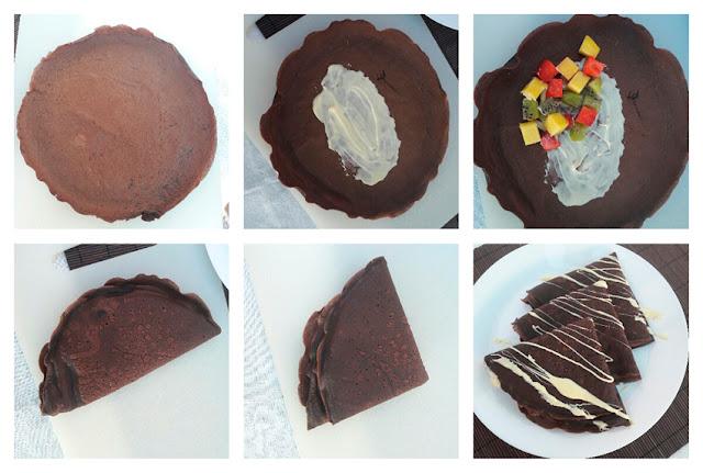 Receta de crêpes de chocolate: la presentación