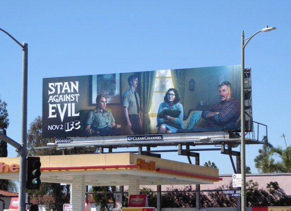 Stan Against Evil series launch billboard