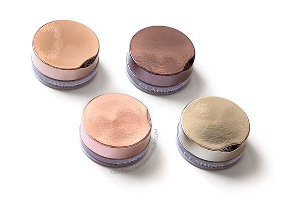 Clarins Instant Glow Ombre Iridescente Eyeshadows 04 Silver Ivory 05 Pink 06 Green 07 Plum Review