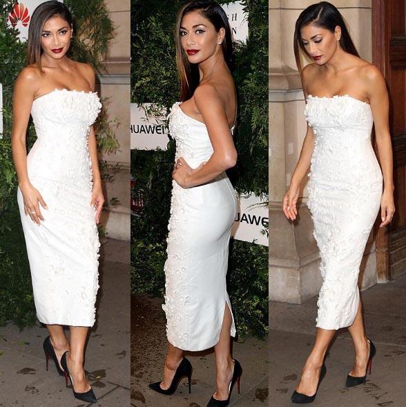 Nicole Scherzinger stuns in flawless white gown