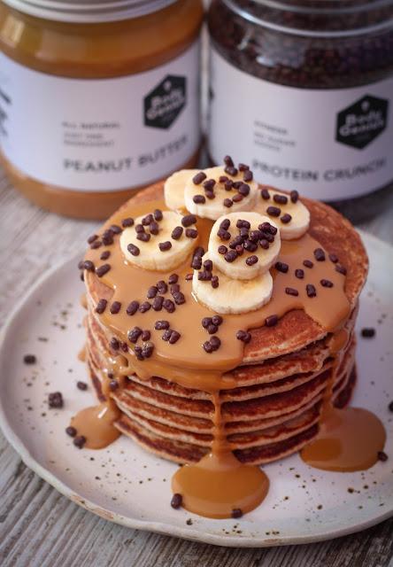 Pancakes fitness de avena y plátano