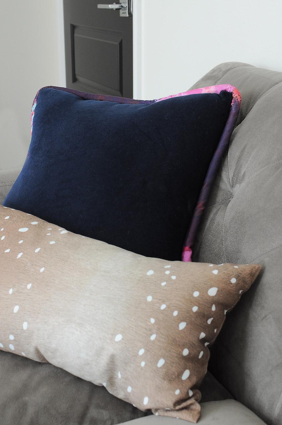 Navy pillow by SmithHonig