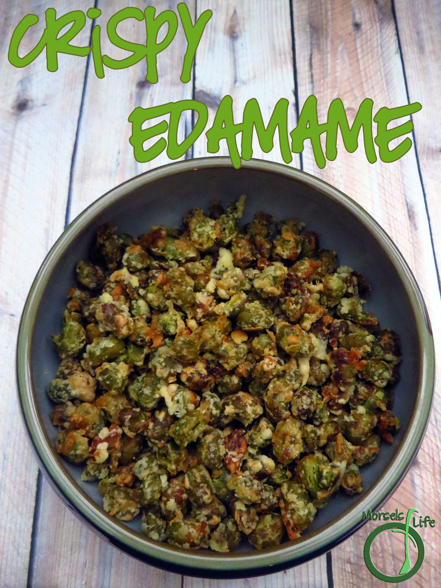 Morsels of Life - Crispy Edamame - Crispy edamame with a Parmesan cheese crust - a healthy and savory snack!