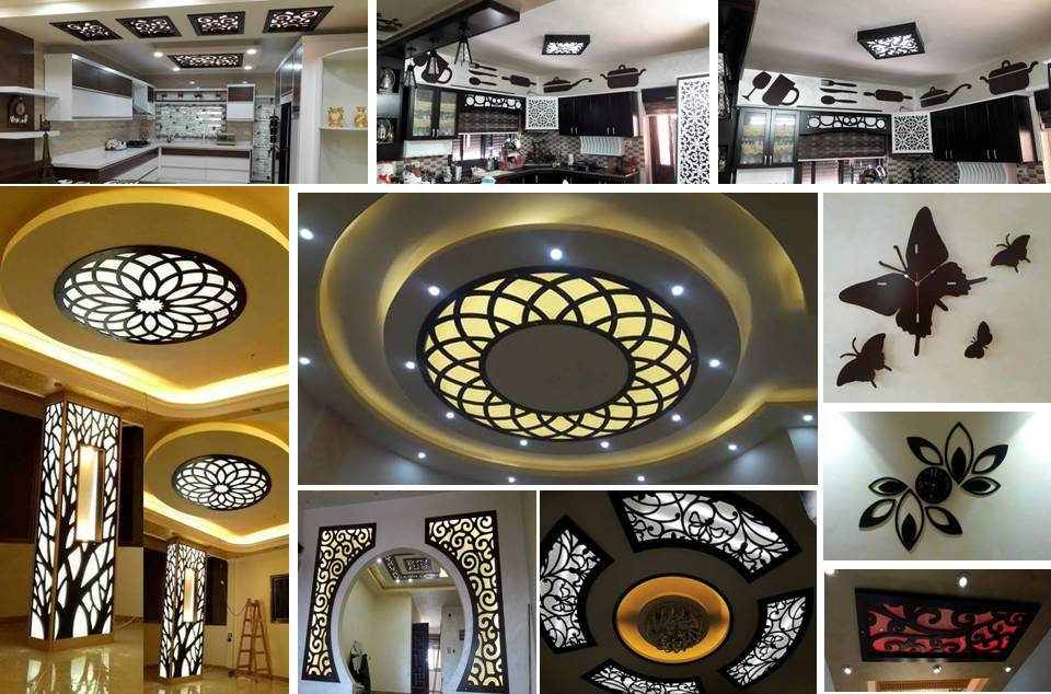 40 Creative CNC Interior Furniture And Ceiling Decorating