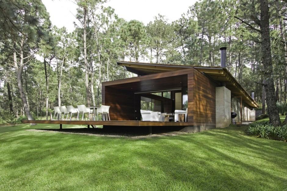 As cidades delgadas casa em madeira pedra e vidro - Casas economicas y modernas ...