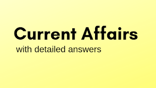 Current affairs MCQ'S With answers (12-03-2019)