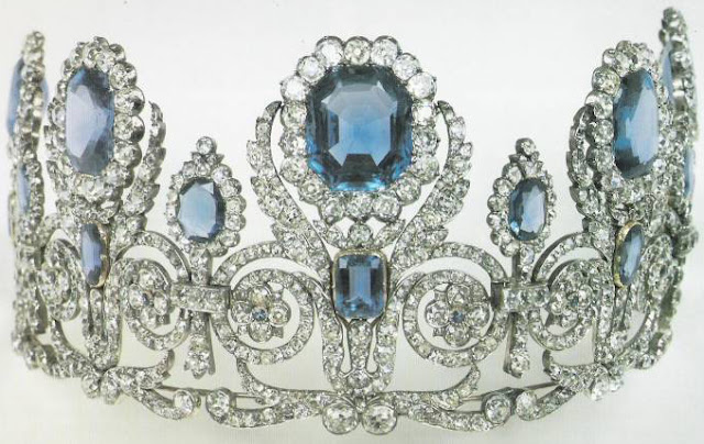 Queen Marie Amelie of France Sapphire Tiara
