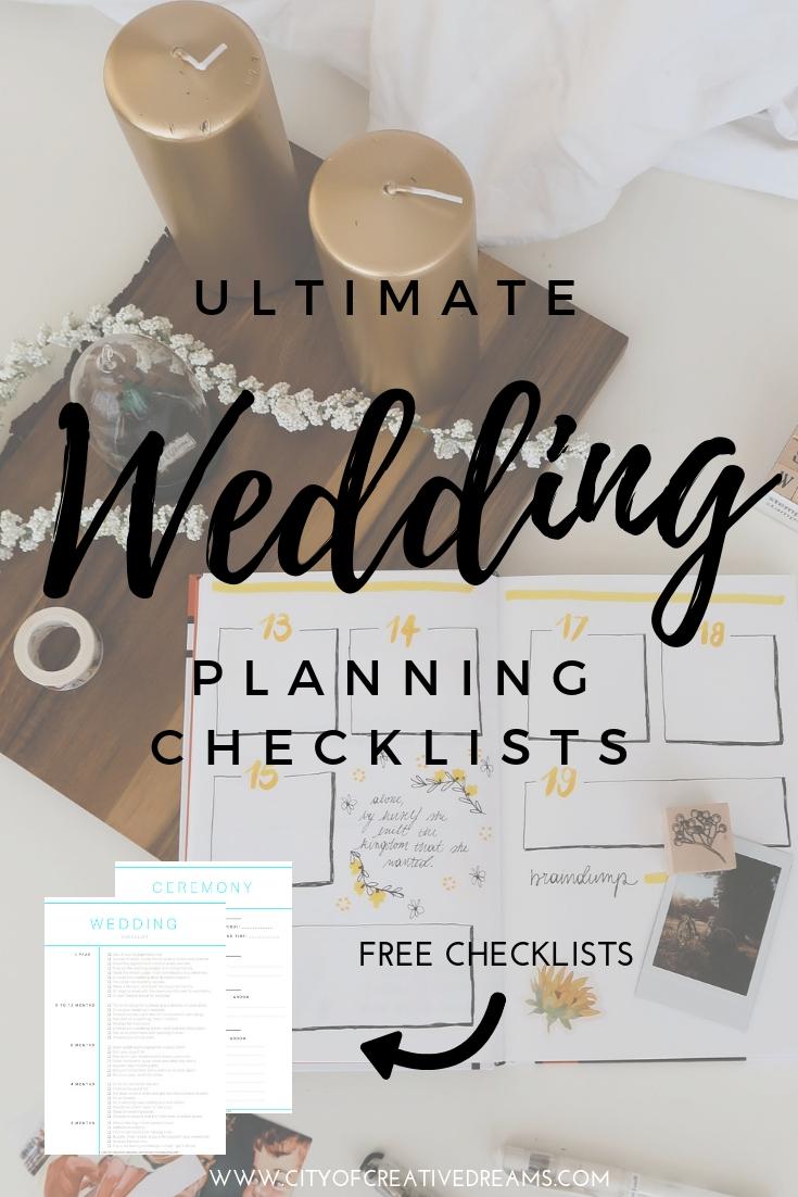 Ultimate Wedding Planning Checklist - City of Creative Dreams