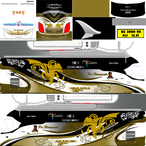 Livery Bussid XHD Po Haryanto Wayang Golden