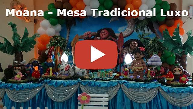 Decoração de aniversário luxo tema Moana