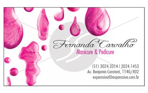 cartao de visita manicure bh - Cartões de Visita para Manicure e Pedicure