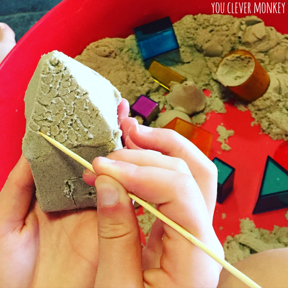 Kinetic Sand - 12 Different Ways to play with Kinetic Sand   you clever monkey
