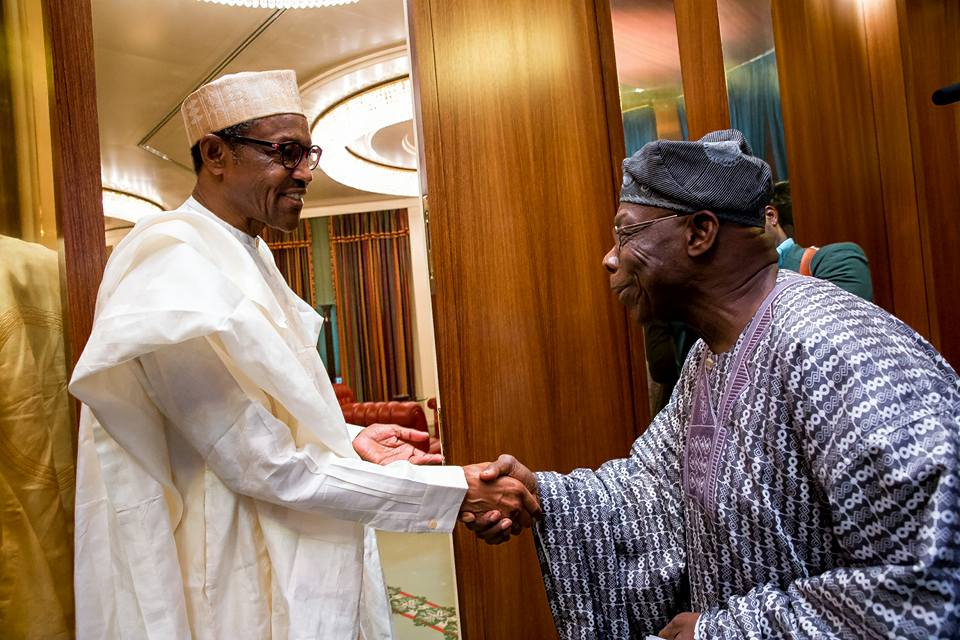 Www.ekpoesito.com: Obasanjo visits Buhari at Presidential
