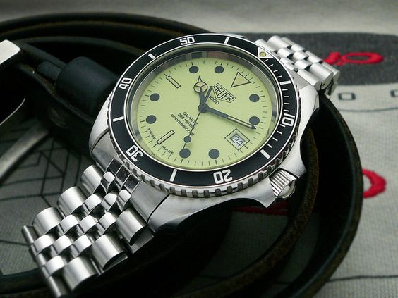 Tag heuer enthusiast spotlight on 1000 series full lume dial quartz diver for Tag heuer divers watch