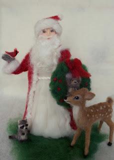 Needle Felt Santa