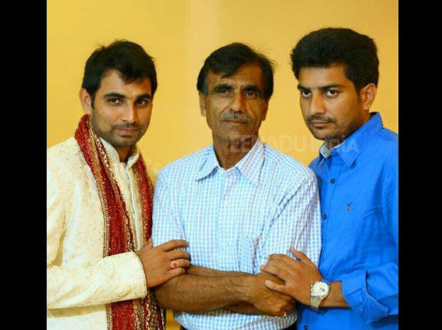 Mohd Shami with (late)Tausif Ali & brother Haseeb