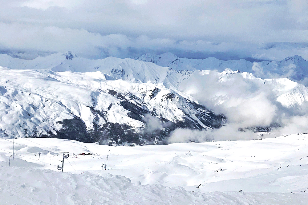 Mountain views in Val Thorens, France - travel & lifestyle blog