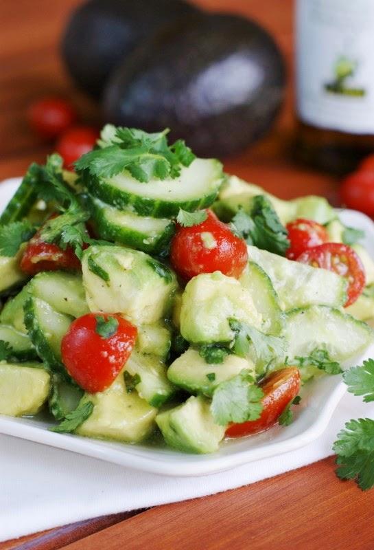 Cucumber, Tomato & Avocado Salad