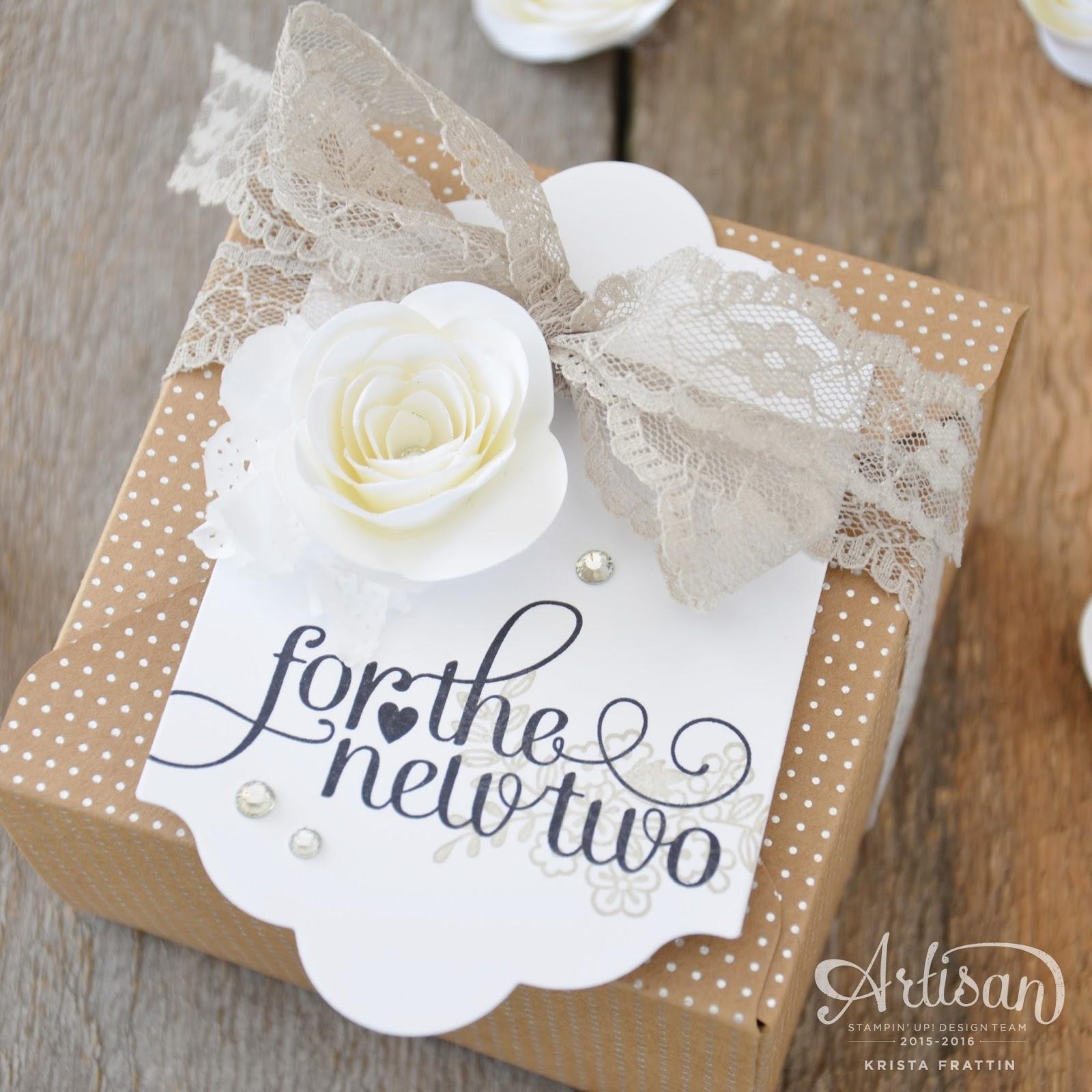 Stampin Dolce Wedding gift wrap Fancy Friday Blog Hop