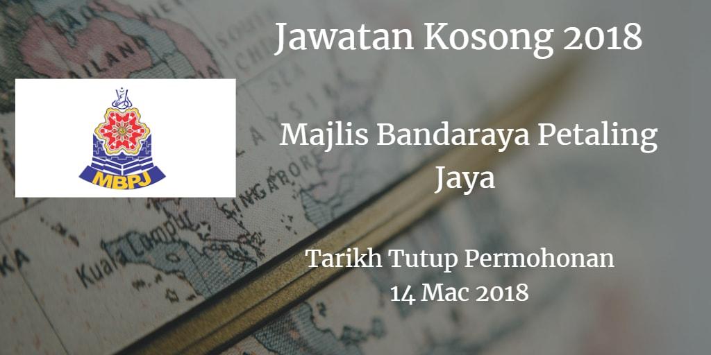 Jawatan Kosong MBPJ 14 Mac 2018