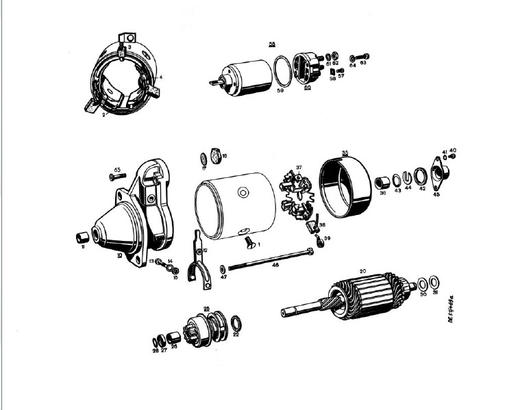 Exploded View Of Starter Motor  impremedia