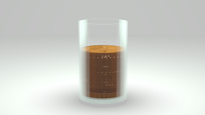 an attempt at blender render making a glass and a semi-transparent coffee