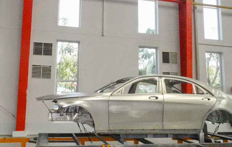 Dự án làm mát xưởng sơn xe Mercedes- Benz Quang Trung