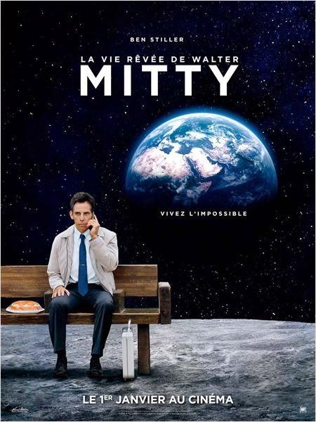 Ben Stiller sur l'affiche du film La Vie rêvée de Walter Mitty