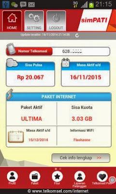 Cara Cek Kuota Paket Internet Telkomsel Melalui Aplikasi My Telkomsel
