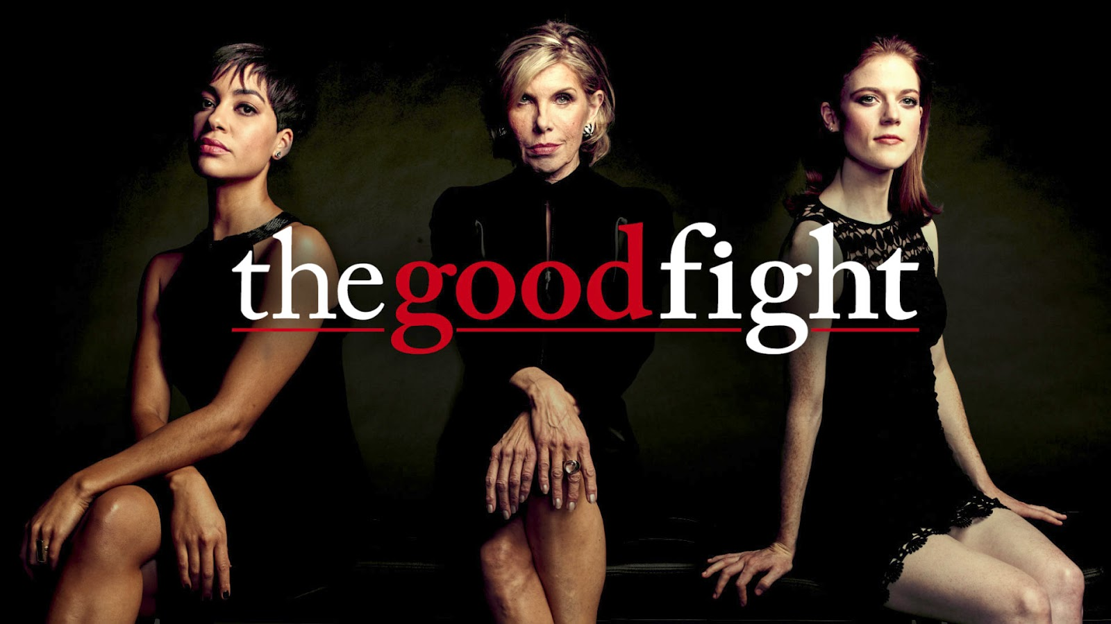 Cush Jumbo, Christine Baranski y Rose Leslie en 'The Good Fight'