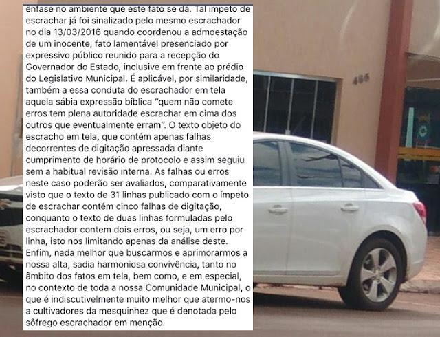 """Manoel Ribas: Polêmica nas redes sociais. Vereador foi """"tirar uma casquinha"""" e foi """"descascado"""""""