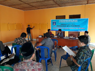 Desa Bujak Melaksanakan Bimbingan Teknis Untuk RPJMDes