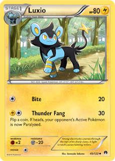 Luxio BREAKpoint Pokemon Card