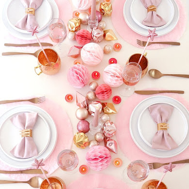 DIY No-Sew Pink & Fluffy Table Place Mats
