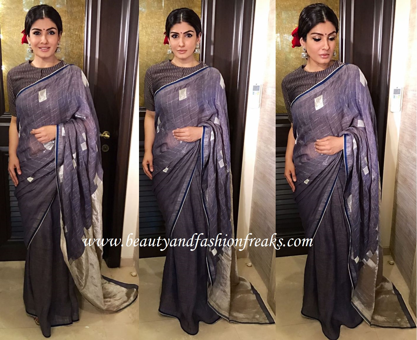 Raveena Tandon In Anavila At Central Excise Day 2017