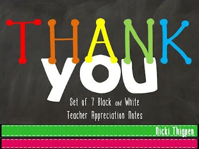 https://www.teacherspayteachers.com/Product/Thank-You-Notes-Teacher-Appreciation-Week-2519602
