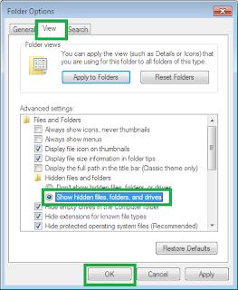 Menghapus recent items melalui Windows Explorer