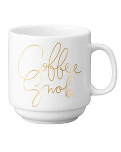 Easy Tiger Co. Coffee Snob Gold Stackable Mug at Swank Boutique