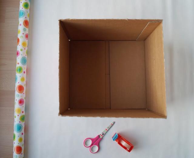 DIY: Bücherbox aus Windelkarton basteln (Eine einfache Idee). So geht das schnell und kostengünstig, auch mit Kindern!