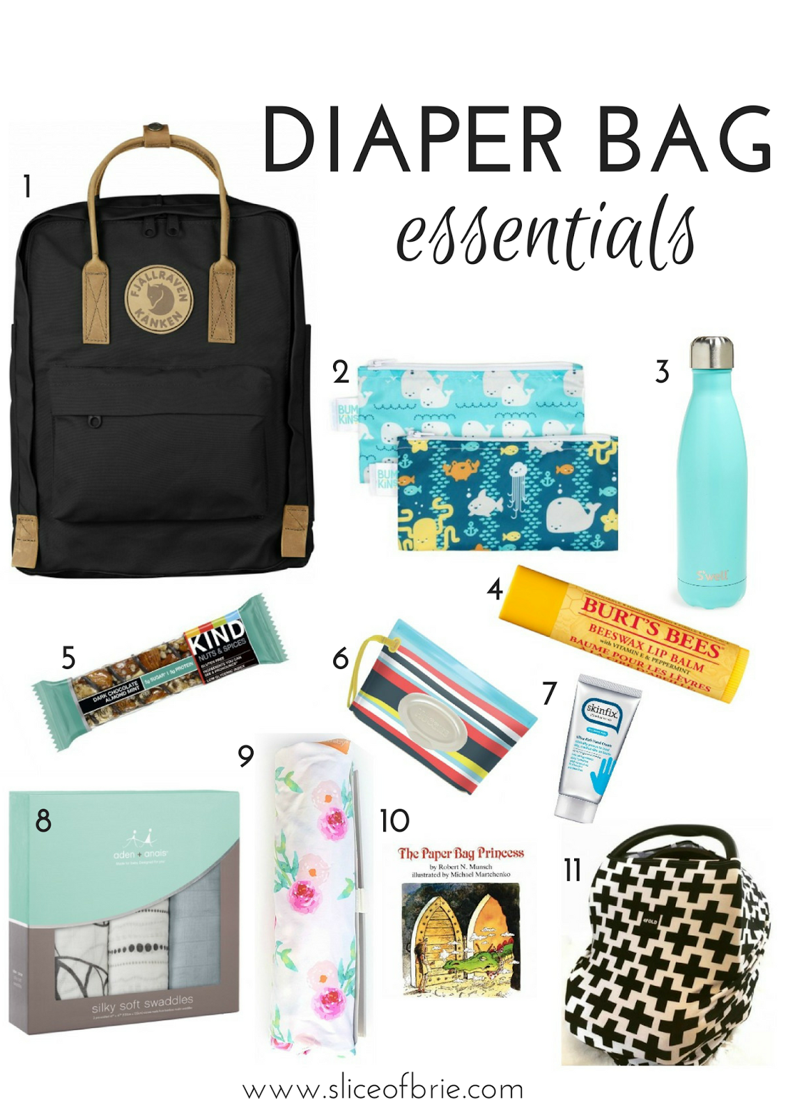 packing a streamlined diaper bag - the must haves