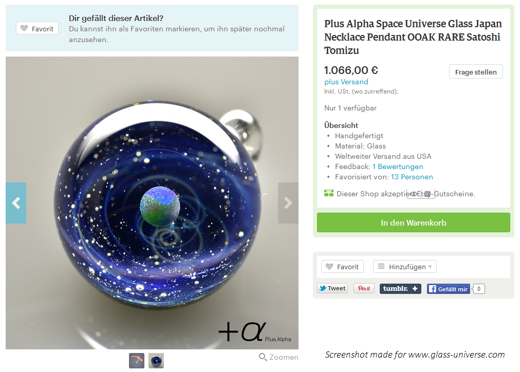 Satoshi Tomizu Plus Alpha space glass how to buy