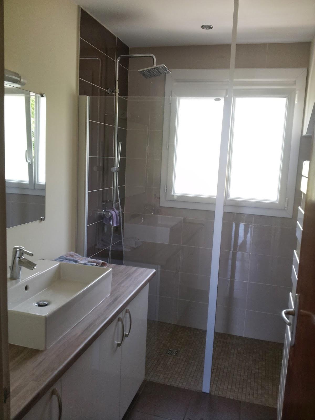 michel le coz agencement d coration salle d 39 eau marron et beige douche italienne. Black Bedroom Furniture Sets. Home Design Ideas