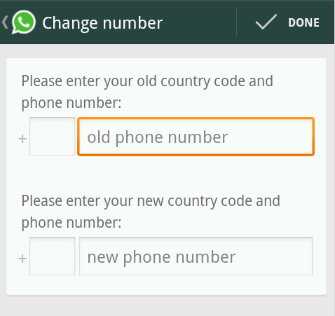 Change Number in WhatsApp