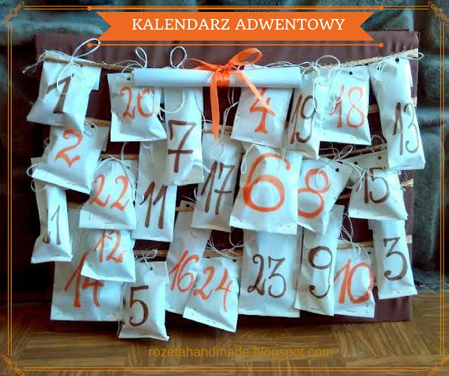 kalendarz adwentowy diy, rozetahandmade.blogspot.com