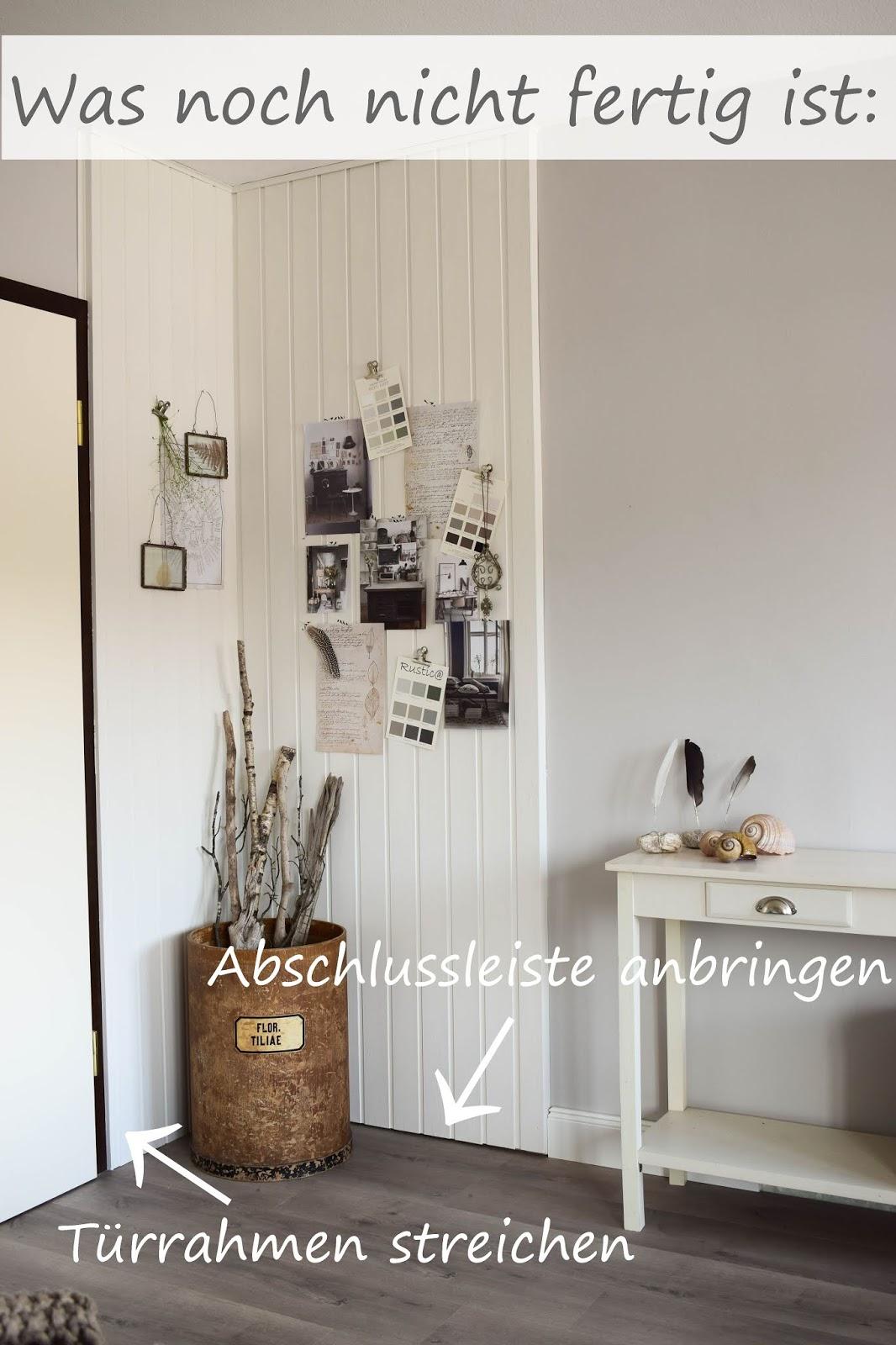 Dekoidee Wandverkleidung DIY aus Holz Moodboard Inspirationswand Kreidefarbe von Painting the Past Renovierung Vertaefelung Beadboard selber machen