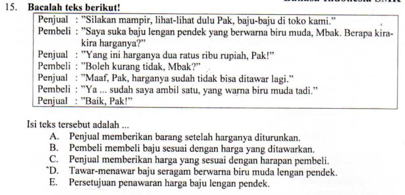 Isi Teks Negosiasi Zuhri Indonesia