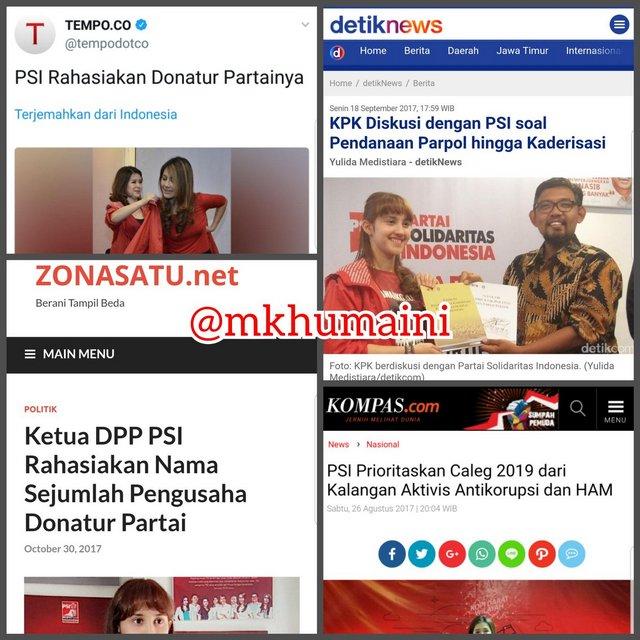 PSI Ngaku Antikorupsi Tapi Rahasiakan Donatur Partai, Netizen: Loh, Katanya Transparan??