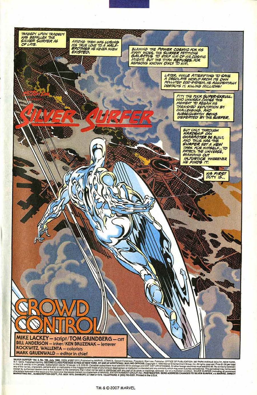 Read online Silver Surfer (1987) comic -  Issue #106 - 3