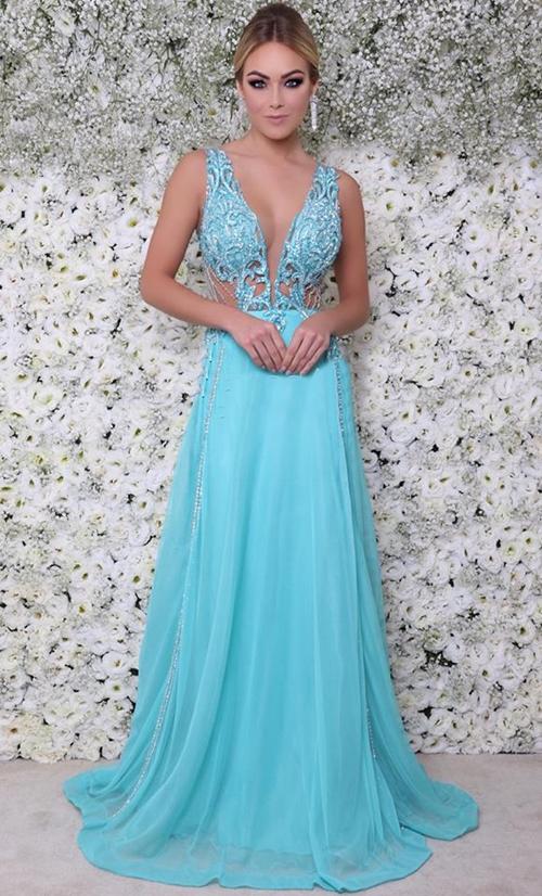 vestido de festa azul tiffany madrinha